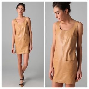 NWOT Vince Leather Tank Mini Dress